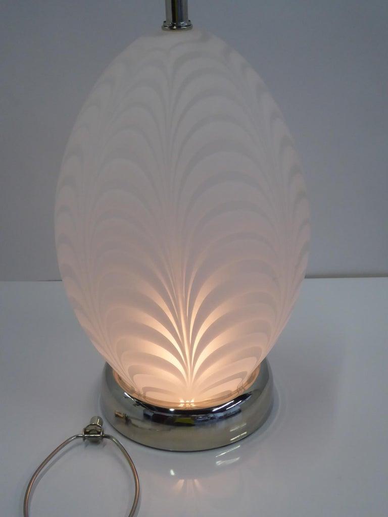 Midcentury Murano Art Glass Lamp with Inner Light For Sale 1