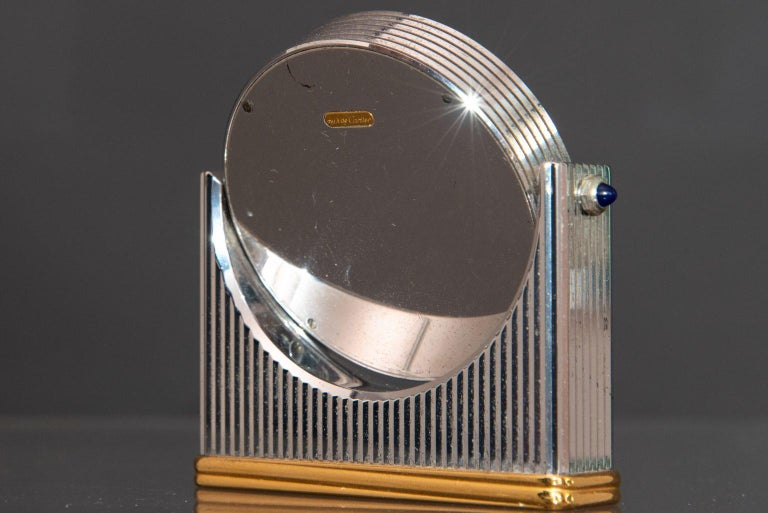 Mid-20th Century Midcentury Must de Cartier Table Clock For Sale