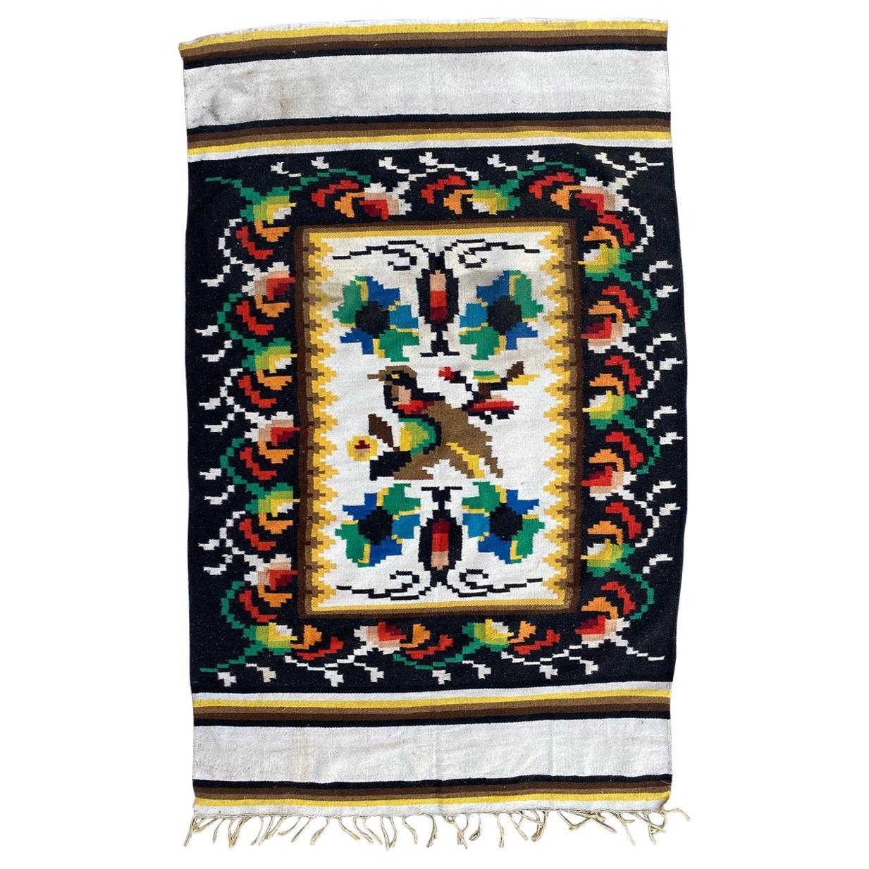 Mid Century Navajo Tapestry Kilim
