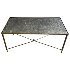 Midcentury Neocalssical Brass Coffee Table Jansen Style