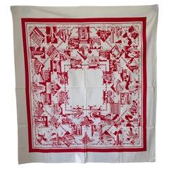 Mid-Century New York City Souvenir Table Cloth