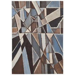 Midcentury New York School Abstract Modernist Cubist Oil Painting, 1960s