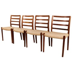 Midcentury Niels Otto Moller Model 85 Rosewood Dining Chairs