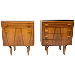 Midcentury Nightstands, Chest of Drawers by Nový Domov, 1970s, Czechoslovakia