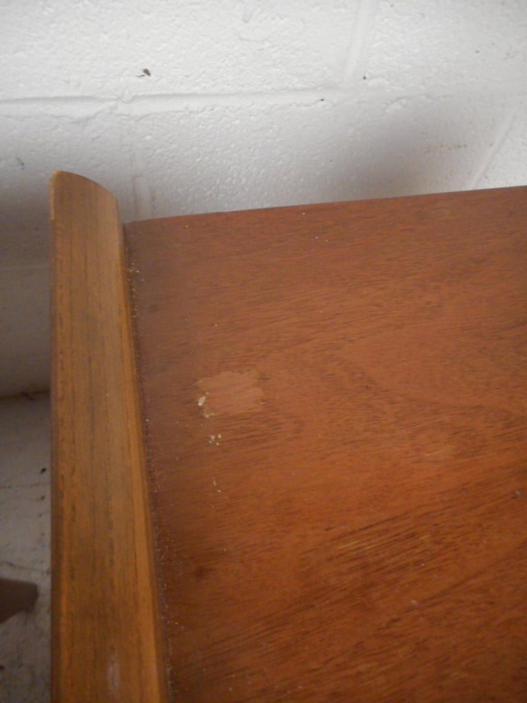 Walnut Midcentury Nightstands by Big Rapids Furniture Co., a Pair For Sale