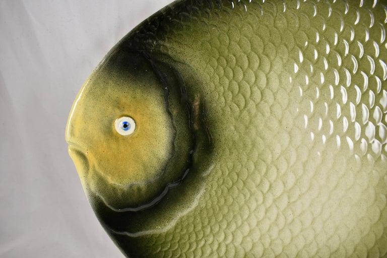 Mid-Century Modern Era Northern Italian Faïence Majolica Fish Service, Set of 7 For Sale 5