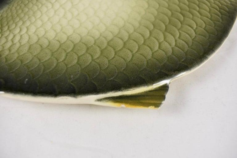 Mid-Century Modern Era Northern Italian Faïence Majolica Fish Service, Set of 7 For Sale 9