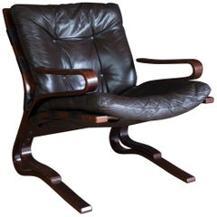 Midcentury Norwegian Kengu Armchair by Else & Nordahl Solheim in Bentwood Beech