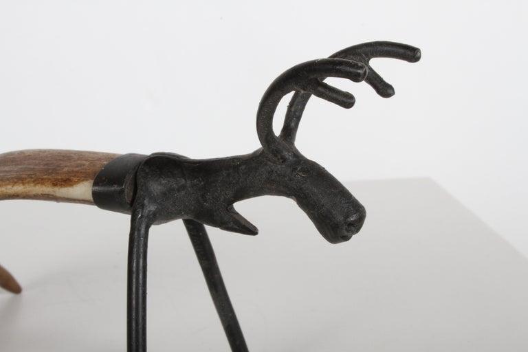 Mid-Century Norwegian Reindeer Antler Bottle Opener For Sale 4