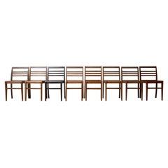 Mid-Century Oak Dining Chairs by René Gabriel '16'