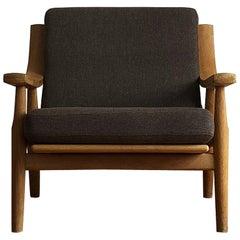Mid Century Oak Lounge Chair Model 530 by Hans Wegner for Getama