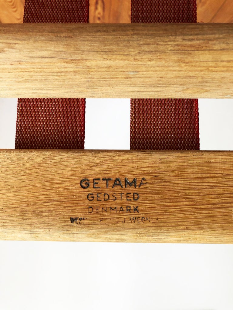 Midcentury Oak Sofa Model 530 by Hans Wegner for GETAMA For Sale 4