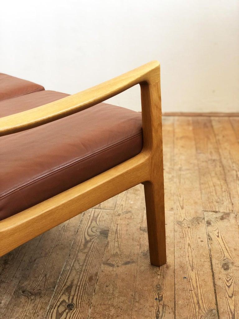 Midcentury Oak Sofa Model Senator by Ole Wanscher for Poul Jeppesens For Sale 3