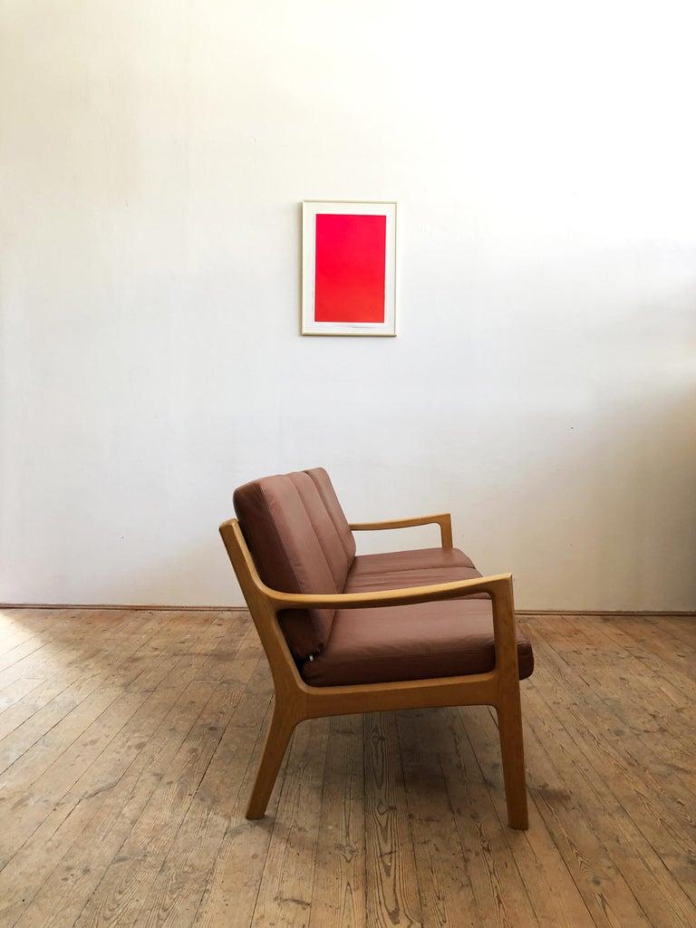 Danish Midcentury Oak Sofa Model Senator by Ole Wanscher for Poul Jeppesens For Sale