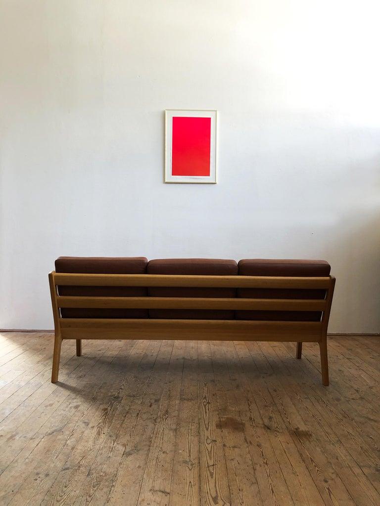 20th Century Midcentury Oak Sofa Model Senator by Ole Wanscher for Poul Jeppesens For Sale