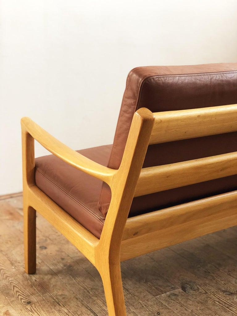 Midcentury Oak Sofa Model Senator by Ole Wanscher for Poul Jeppesens For Sale 1