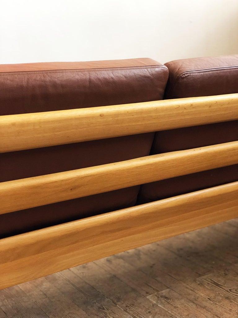 Midcentury Oak Sofa Model Senator by Ole Wanscher for Poul Jeppesens For Sale 2