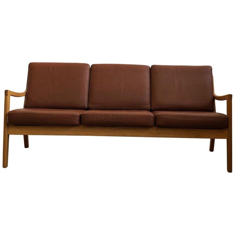 Midcentury Oak Sofa Model Senator by Ole Wanscher for Poul Jeppesens For Sale