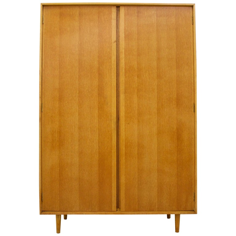 Midcentury Oak Wardrobe by John & Sylvia Reid for Stag, 1950s For Sale