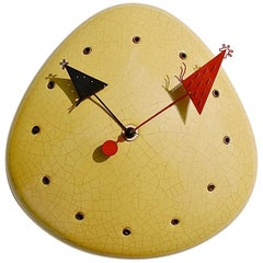 Midcentury Object d'Art Wall Clock, 1950s Germany