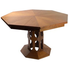 Mid Century Octagonal Inlay Dining Table by Foster, McDavid