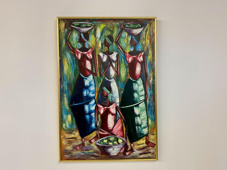 Mid-Century Modern Mid Century Oil Painting For Sale