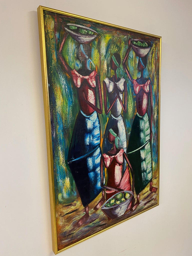 Mid Century Oil Painting For Sale 1