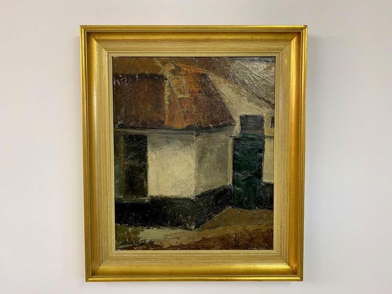 Oil on canvas  Gold frame  Mid century Belgium.