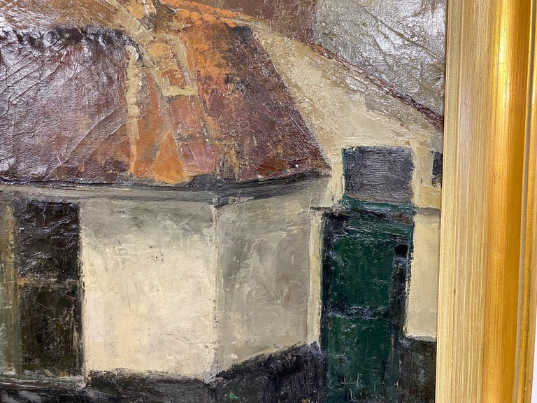20th Century Mid Century Oil Painting on Canvas For Sale