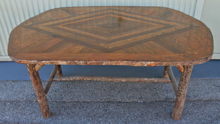 American Mid Century Old Hickory Table and Five  Chairs For Sale