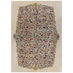 Mid century Olga Fisch Colorful Carpet Caceria (The Hunt)