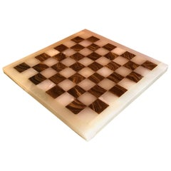 Midcentury Onyx Chess Board