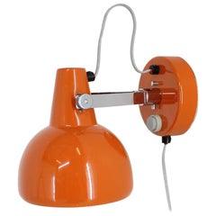 Midcentury Orange Wall Lamp/Lidokov, 1960s