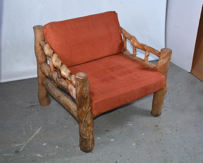 Organic Modern Midcentury Organic Sculptural Lounge Chair For Sale
