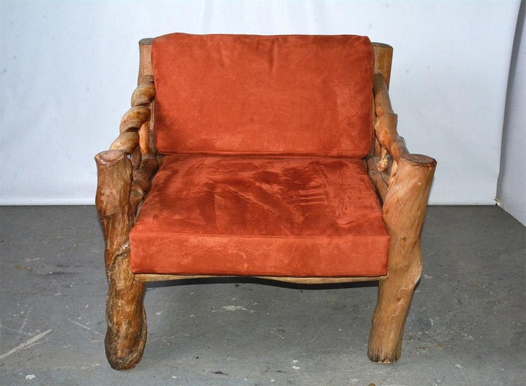 Hand-Crafted Midcentury Organic Sculptural Lounge Chair For Sale
