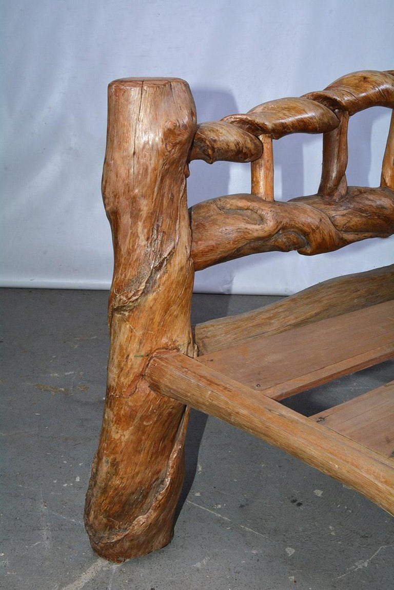 Wood Midcentury Organic Sculptural Lounge Chair For Sale