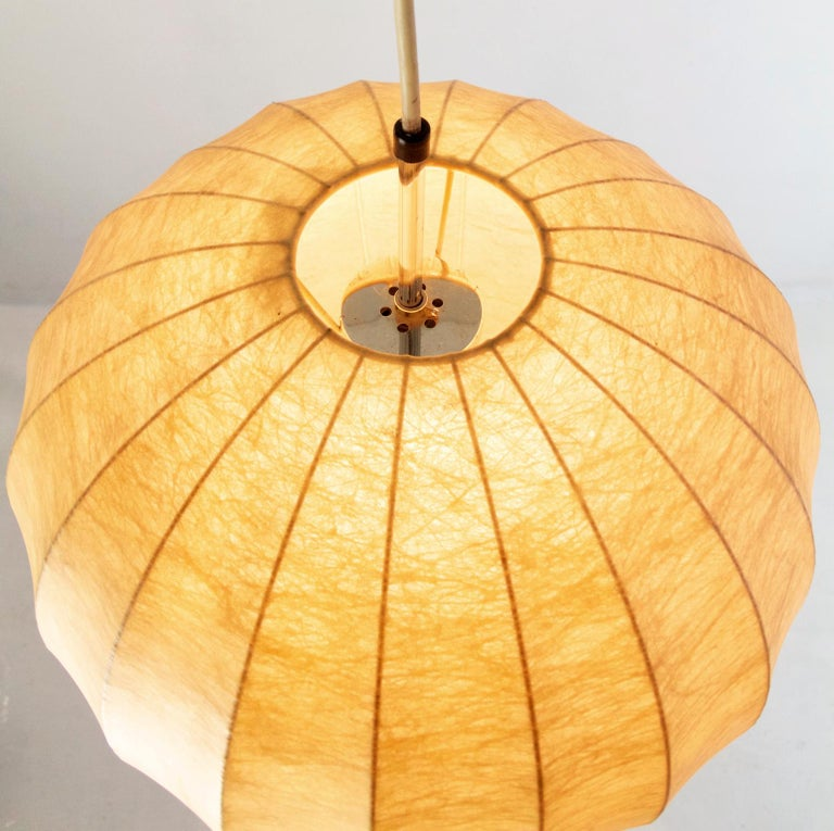 Mid-Century Modern Midcentury Original Cocoon Pendant by Castiglioni Brothers, 1960s For Sale