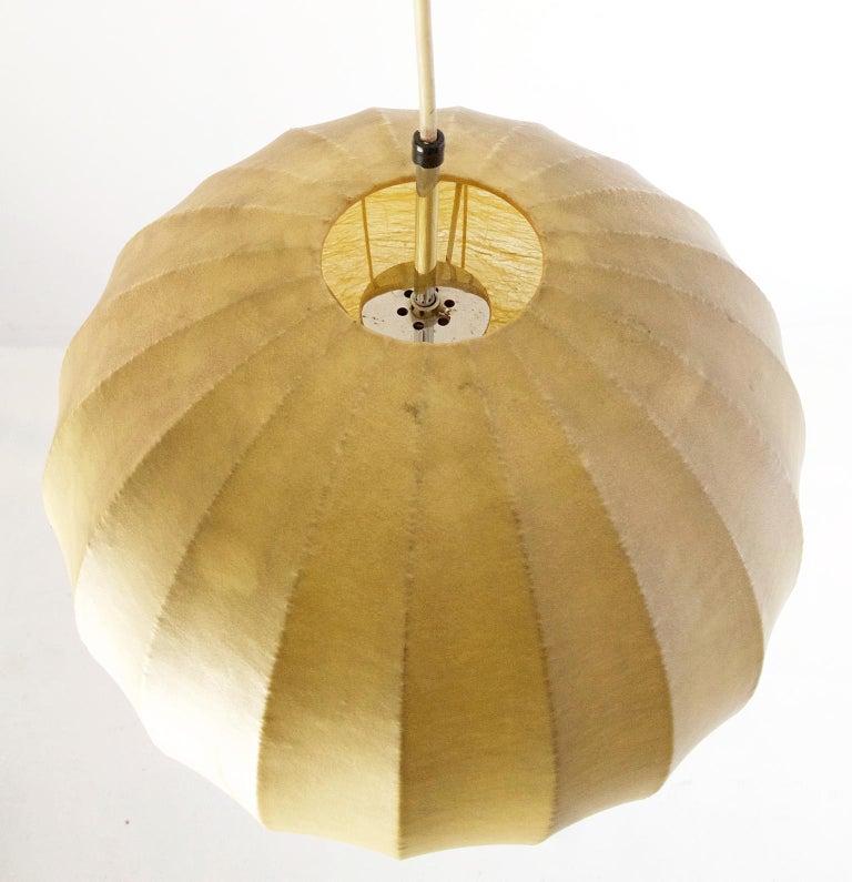Italian Midcentury Original Cocoon Pendant by Castiglioni Brothers, 1960s For Sale