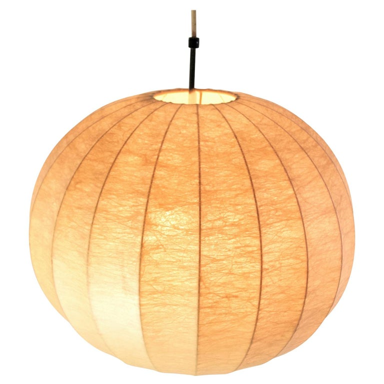 Midcentury Original Cocoon Pendant by Castiglioni Brothers, 1960s For Sale
