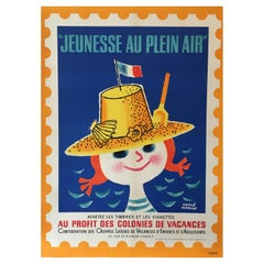 Mid-Century Original French Vintage Poster, 'Jeunesse Au Plein Air' by H. Morvan