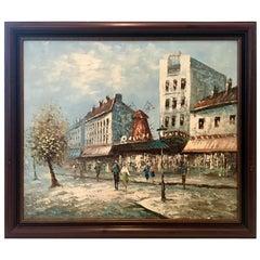 Mid-Century Original Oil On Canvas Painting By, Burnett