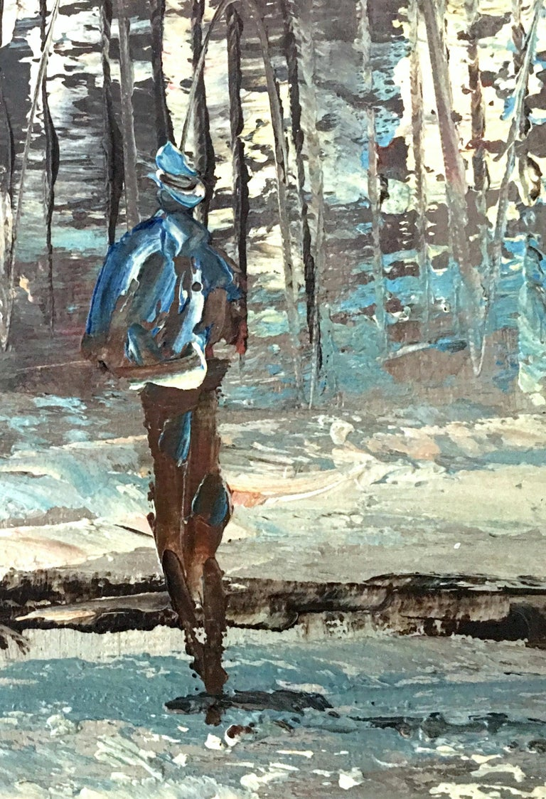 20th Century Original Oil on Canvas Painting by Burnett For Sale 4