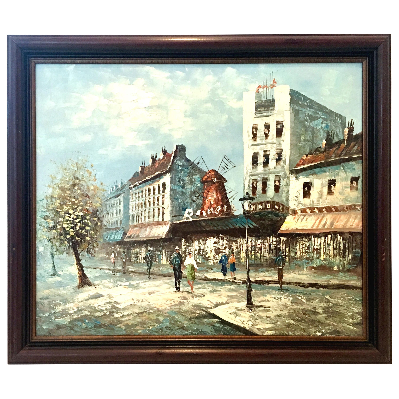 20th Century Original Oil on Canvas Painting by Burnett
