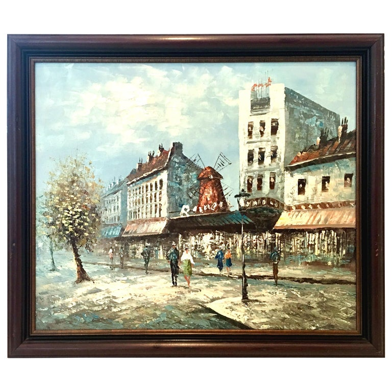 20th Century Original Oil on Canvas Painting by Burnett For Sale