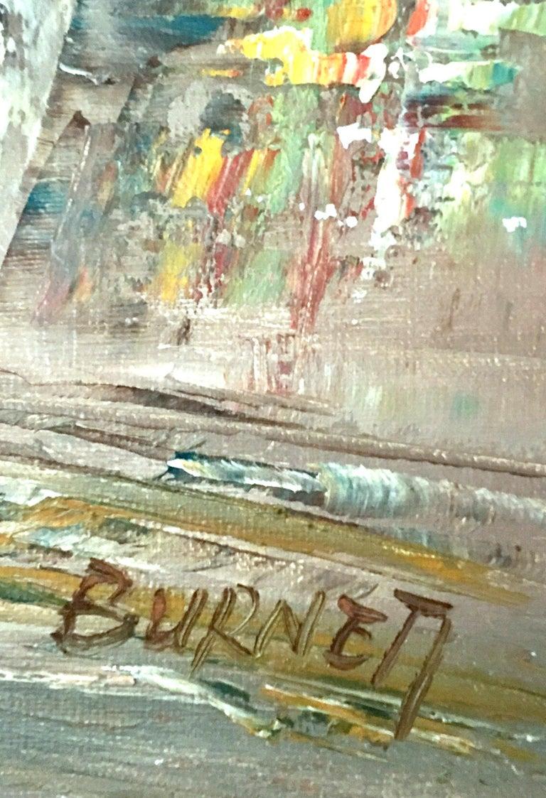 20th Century Original Oil on Canvas Paris Street Scene Painting by C. Burnett For Sale 8