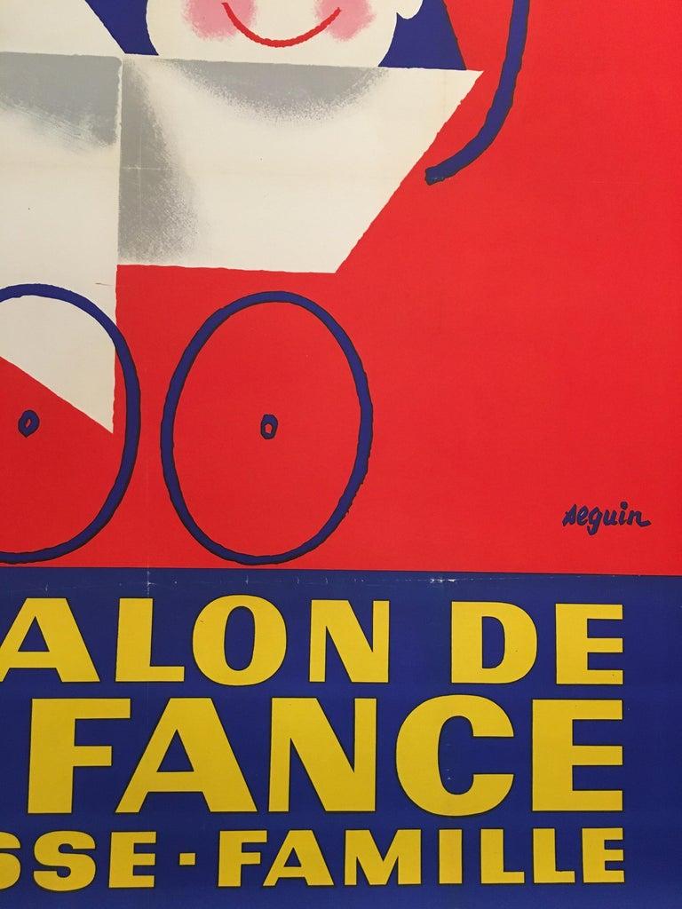 Midcentury Original Vintage French Poster, 'Salon De L'enfance' by Seguin In Good Condition For Sale In Melbourne, Victoria
