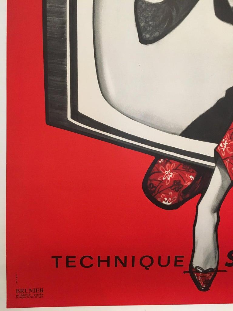 Midcentury Original Vintage French Poster, 'Schaub-Lorenz Television L.M.T.' In Good Condition In Melbourne, Victoria