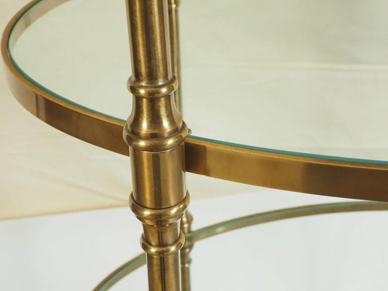Mid-Century Modern Midcentury Oval Brass Étagère