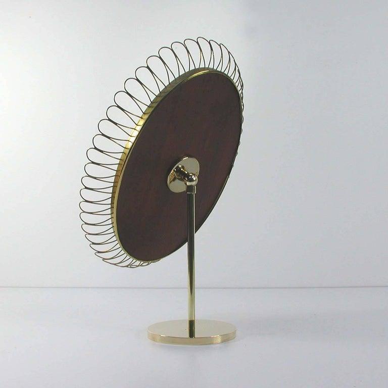 Swedish Midcentury Oval Brass Table Mirror Josef Frank Svenskt Tenn Style, 1950s For Sale