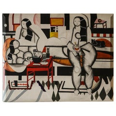 Midcentury Painting after Fernand Leger